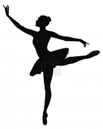 Abstract vector illustration of dancing ballerina...