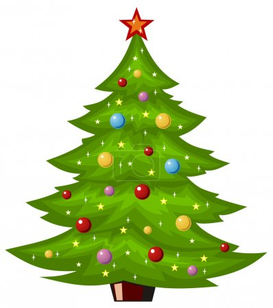 Illustration for Abstract vector illustration of christmas tree - Royalty Free Image