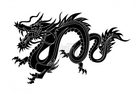 Illustration for Abstract vector illustration of dragon - Royalty Free Image