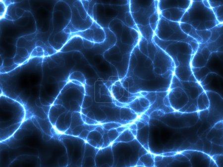 Blue electricity fractals