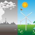 Illustration about the advantage of renewable ener...