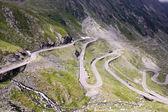 View with adventurous road of Transfagarasan