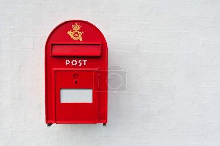 Danish red post box