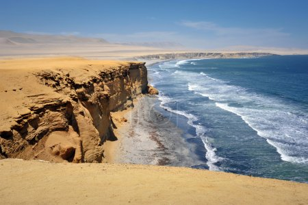 Photo pour Vue sur Ocan à Paracas, Pérou, Amérique du Sud - image libre de droit