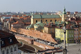 Old Town panorama of Warsaw, Poland