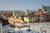 Old town in Warsaw panorama, Poland
