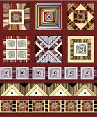 Etnické ornament barevný set