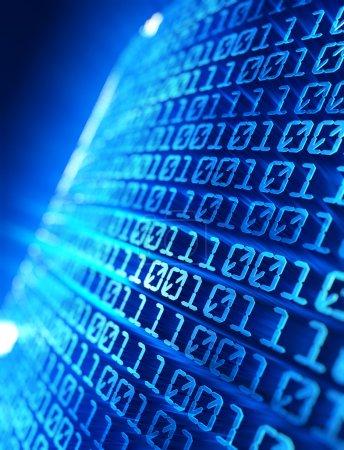 Photo pour Illustration du code binaire abstrait de l'ordinateur - image libre de droit