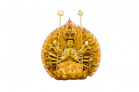Photo for The images of Guanyin on white background - Royalty Free Image