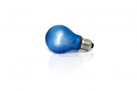 Isolated light bulb on a white background