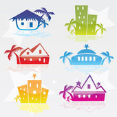 Hotel icons illustrated