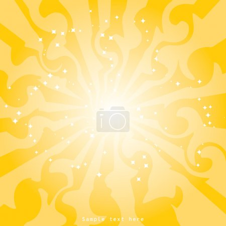 Star abstraction on a yellow background