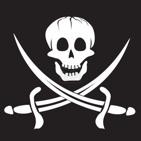 Illustration pour Drapeau pirate - image libre de droit