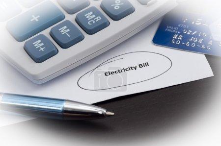 Electricity Bill White Fade
