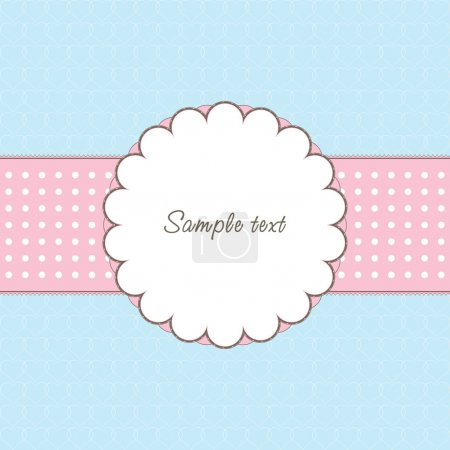 Illustration for Vintage frame with heart and text - Royalty Free Image