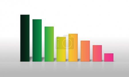 Photo pour Graphe d'affaires coloré sur fond gris . - image libre de droit