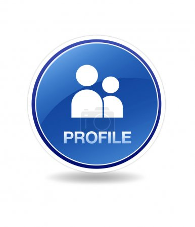 Photo for High resolution graphic of a Profile Icon. - Royalty Free Image
