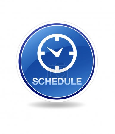 Photo for High resolution schedule icon with clock. - Royalty Free Image