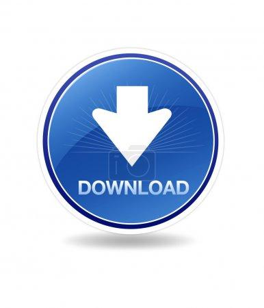 Photo pour Graphique haute résolution d'une icône de téléchargement avec flèche. - image libre de droit