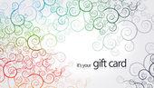Tarjeta de regalo - elementos florales