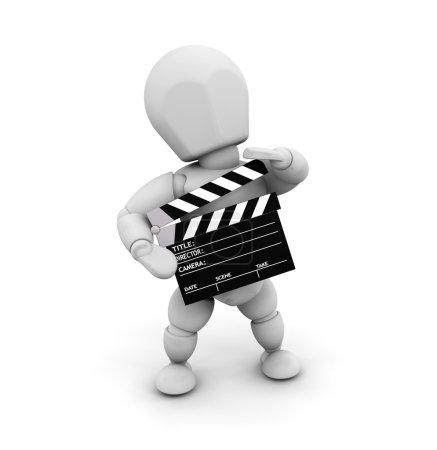 Photo pour Rendu 3D de quelqu'un tenant une carte de battement - image libre de droit