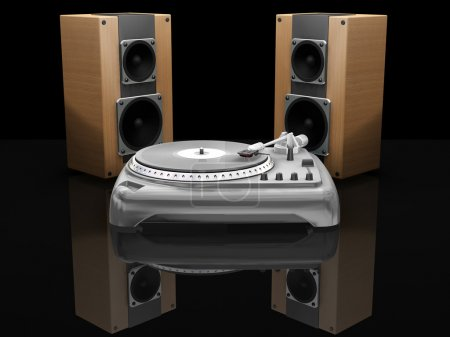 Turntable and speakers