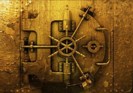 Photo for Grunge style bank vault background - Royalty Free Image