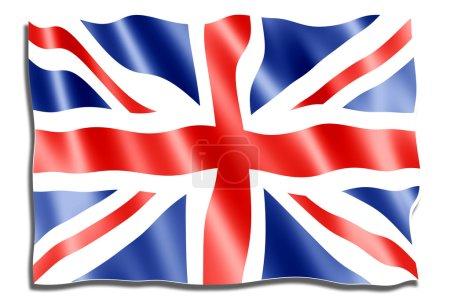 Photo pour Fond de drapeau Union jack - image libre de droit