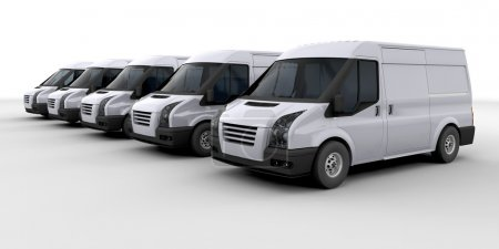 Fleet of delivery vans