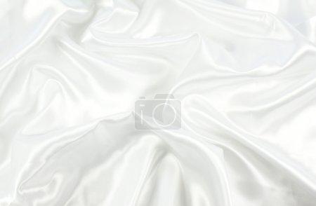 Photo pour Fond de la texture de satin blanc - image libre de droit