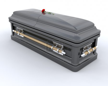 3D render of an ornate coffin...