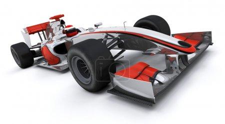 Photo pour 3d rendu d'une formule une voiture de course - image libre de droit
