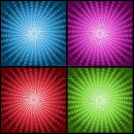 Photo pour Fonds abstraits en quatre couleurs vives dégradées - image libre de droit