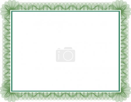 Photo for Blank guilloche style certificate with decorative border - Royalty Free Image