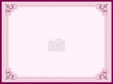 Photo pour Bordures décoratives dans les tons de rose - image libre de droit