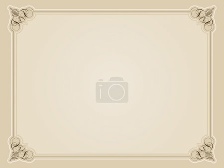 Photo for Vintage style decorative border in sepia tones - Royalty Free Image