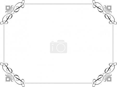 Photo pour Bordure décorative sur fond blanc - image libre de droit