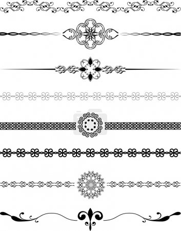 Photo for Various different designs of decorative borders - Royalty Free Image
