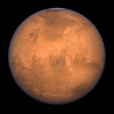 Photo pour Planète mars - un rendu coup plein de haute résolution. - image libre de droit