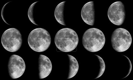 Full Moon Phases - grey