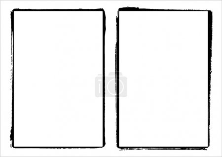 Two vector grunge film frame edges