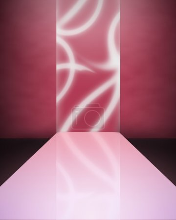 Photo for Image background - an empty catwalk in red colors - Royalty Free Image