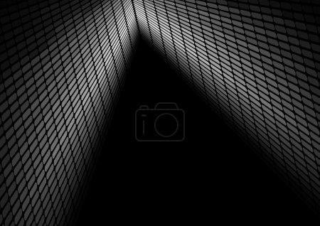 Illustration pour Contexte abstrait - Égaliseur dans les nuances de gris sur fond noir - image libre de droit