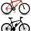 Isolated image of a bike. Vector illustration....