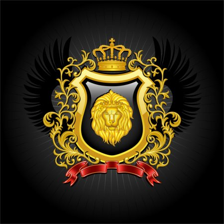 Illustration for Coat of arms. Vector illustration. - Royalty Free Image