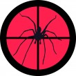 Spider in the crosshair of a gun's telescope. Can ...
