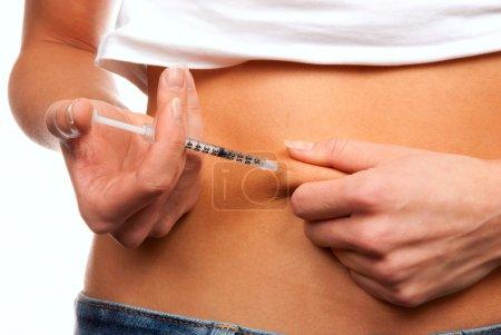 Subcutaneous abdomen injection