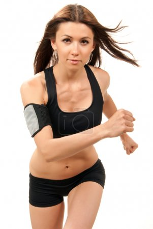 Fitness woman on diet jogging, running, walking in gym
