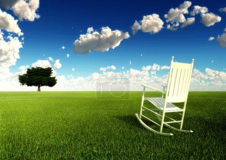 Photo pour Illustration conceptuelle de la contemplation de soi ou de l'état de paix, de la sécurité ou de la solitude dans la vie - image libre de droit