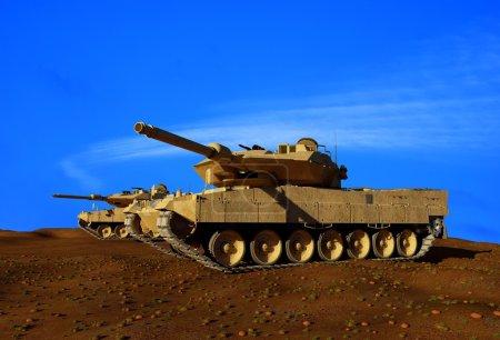 Photo pour Génie militaire sur fond de nature - image libre de droit